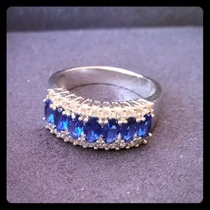 Ross Simons Sim Sapphire & CZ in Sterling Silver.